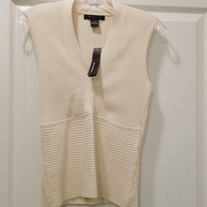 Ribbed Sweater Halter Top